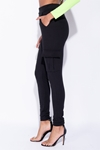 Black Cargo Trousers with Pocket Detailing