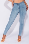 High Waist Light Wash Blue Skinny Jeggings