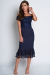 Bardot Navy Lace Dress