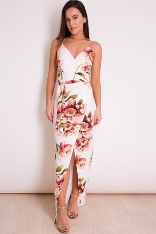 ec02034abe79 Summer Floral Print Maxi Dress