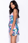Floral Wrap Front Playsuit