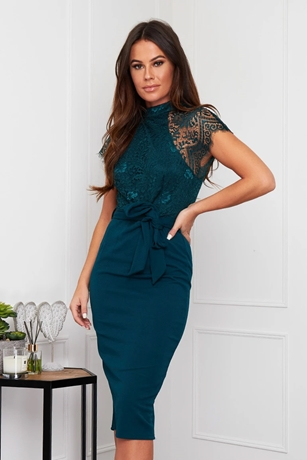 Lace Top 2 in 1 Dress