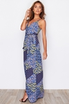 Arezzo Wrap Patchwork Print Maxi Dress