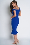 Off The Shoulder Fishtail Hem Dress
