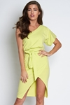 One Shoulder Batwing Dress