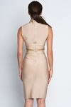 Luxe Sleeveless Nude Bandage Dress