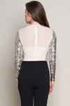 V Neck Wrap Sequin Top Bodysuit
