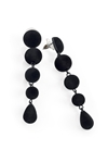 Velvet Look Ball Drop Earrings