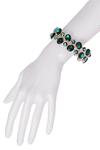 Emerald Jewelled Elasticated Bracelet