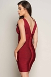 Luxe Merlot Bandage Dress