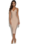 Luxe Nude Bandage Dress