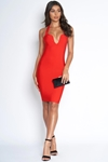 Luxe Sweetheart Red Bandage Dress