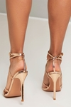 Gold Metallic Strappy Heels