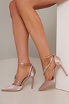 Bejewelled Mink Court Shoes