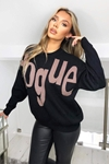 Slogan Knitted Jumper
